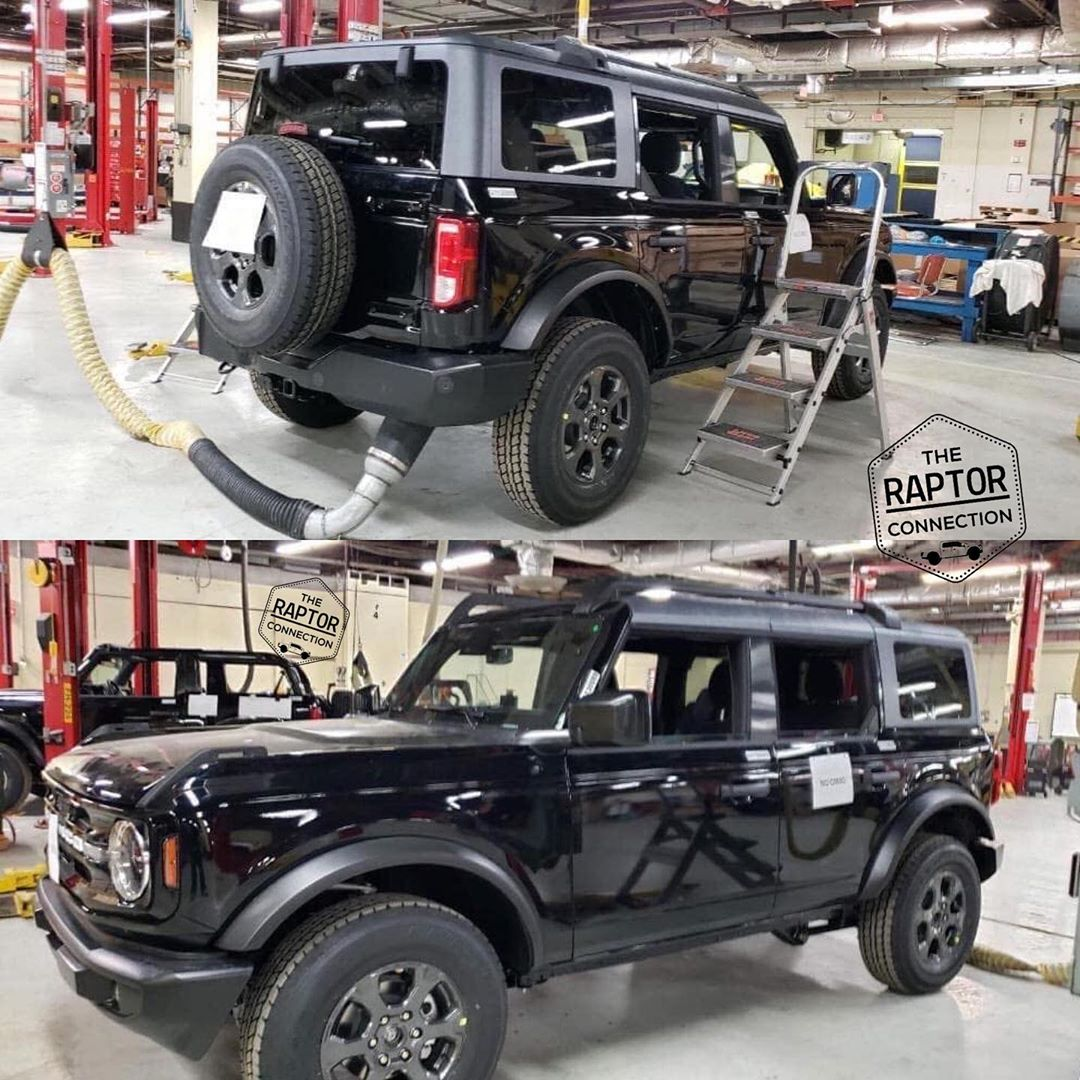 2021 Ford Bronco Shows Off Black Paint, Full-Size Spare ...