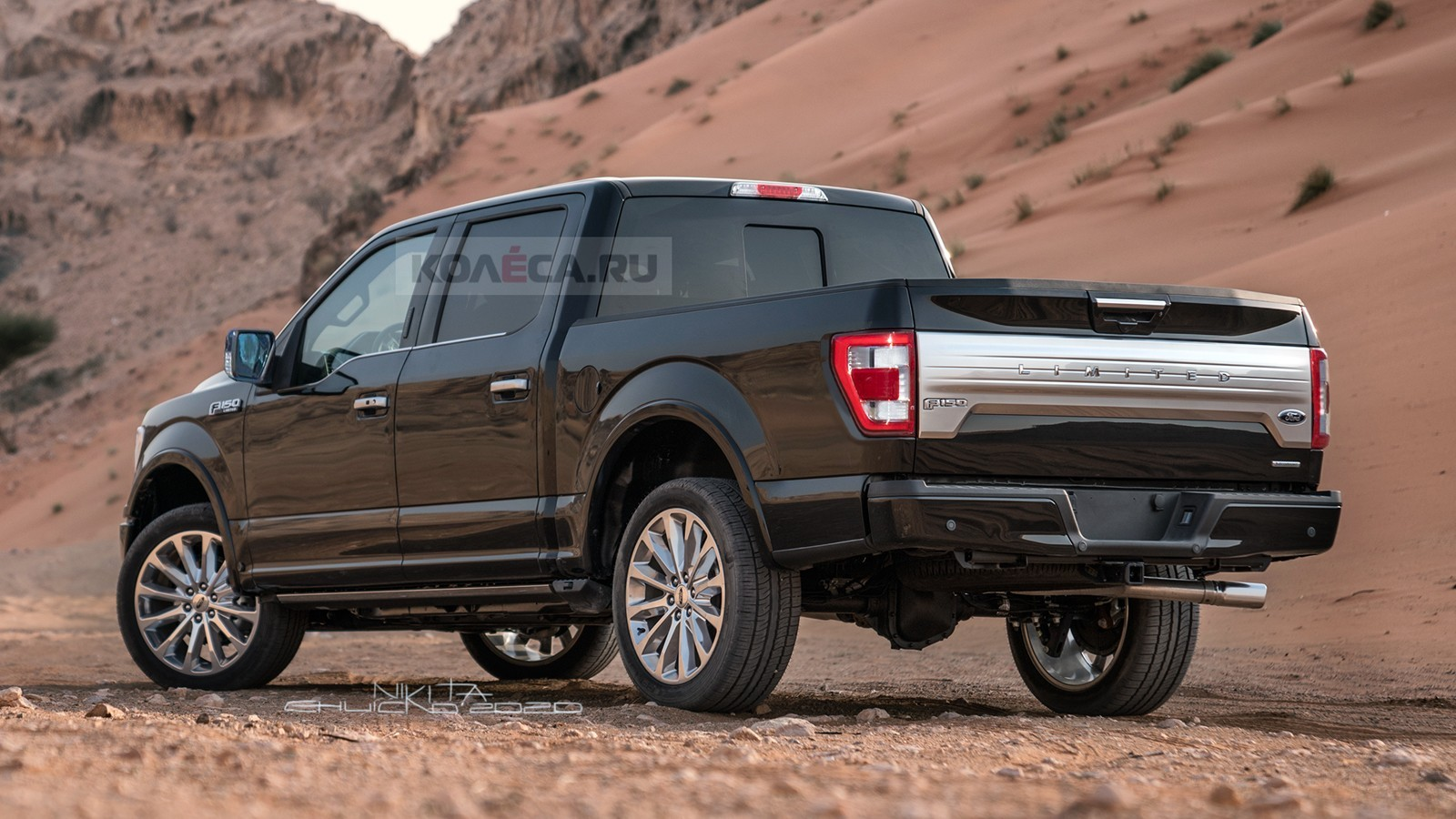 2021 ford f150 accurately rendered with gmclike grille