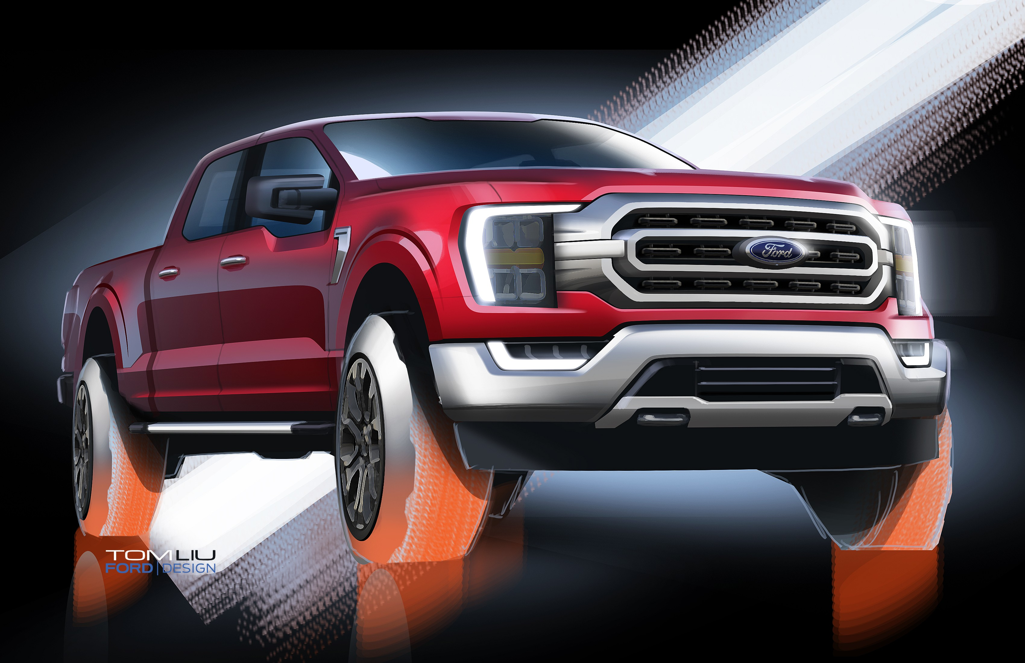 2021 ford f150 redesigned to look less like a gmc and