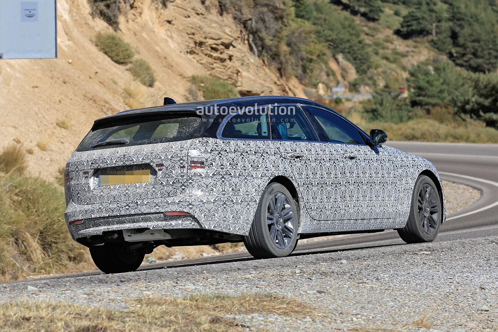 2021 jaguar xf sportbrake spied testing visual updates