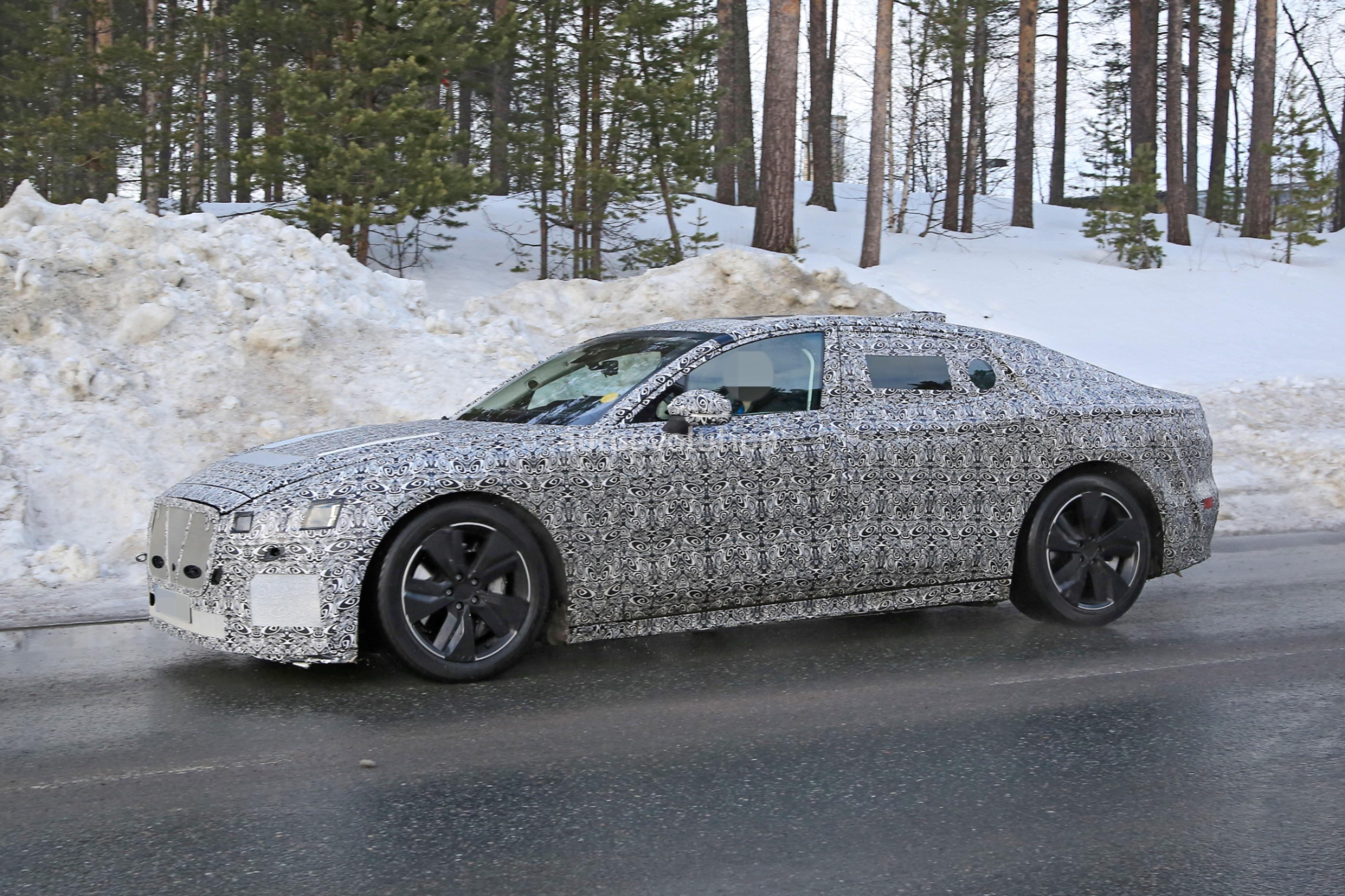 2021 jaguar xj spied braving the cold, ev prototype sports