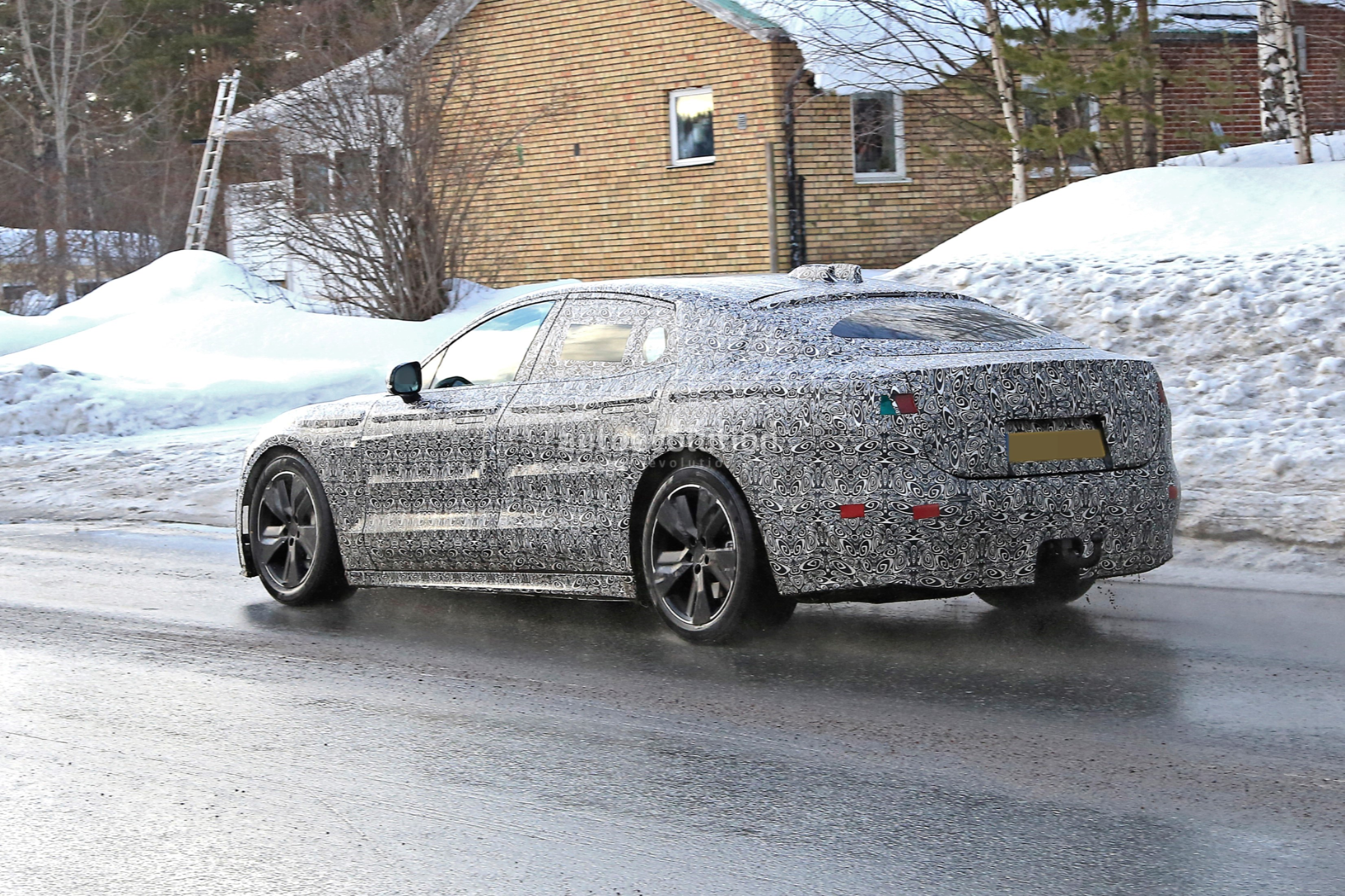 2021 jaguar xj spied braving the cold ev prototype sports