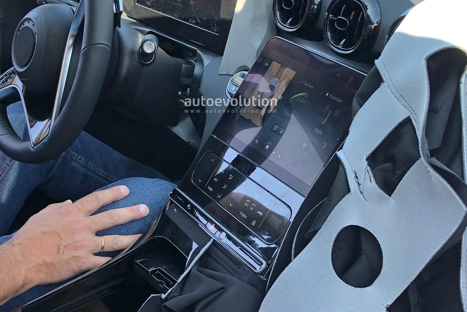 2021 mercedes c-class interior spied in detail  looks insane
