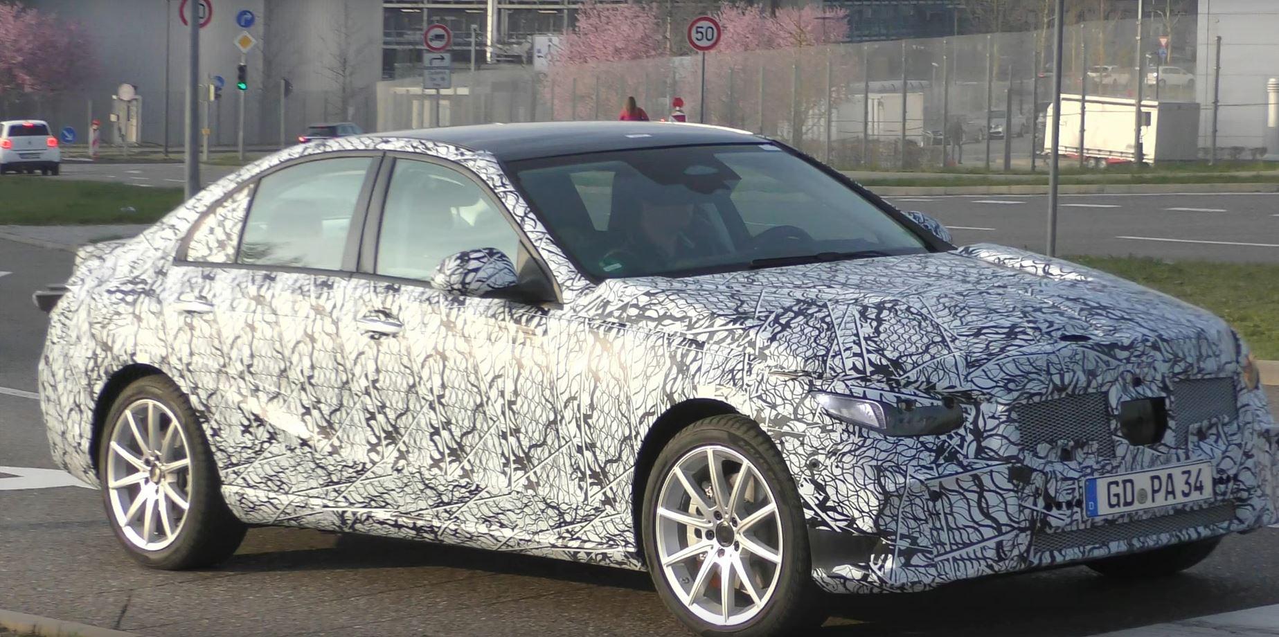 2021 mercedes cclass sedan spied in germany brings