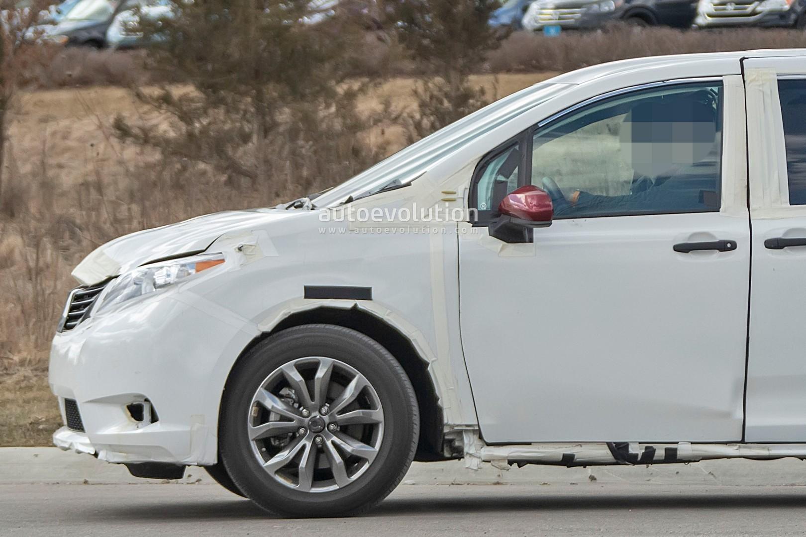 2021 Toyota Sienna Test Mule Previews Larger TNGA Minivan ...
