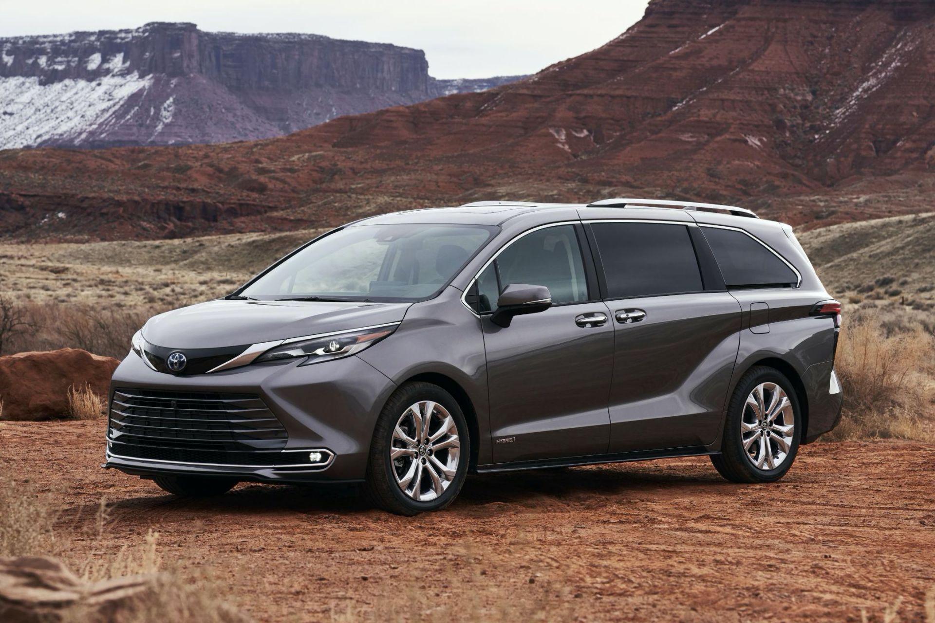 2021 toyota sienna unveiled as bold new hybrid minivan