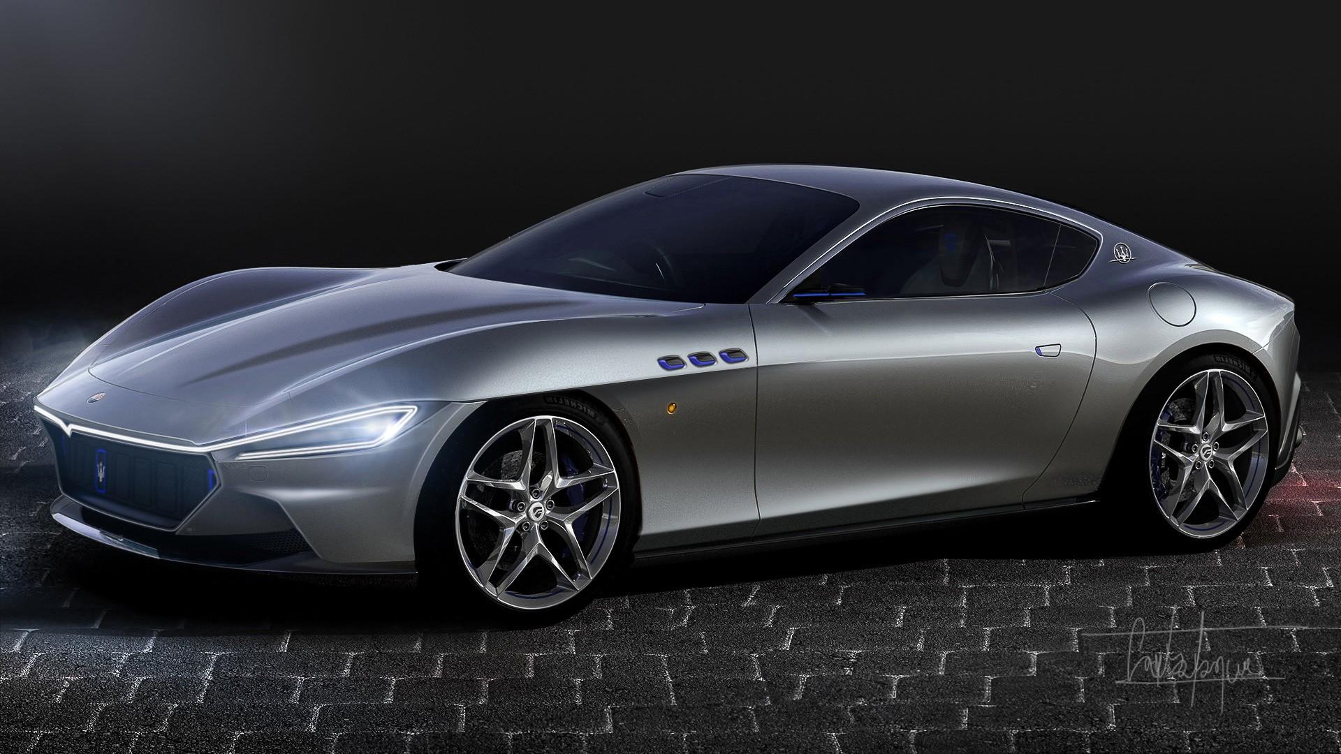 2021 - [Maserati] Alfieri Coupé - Page 2 2022-maserati-granturismo-imagined-with-ferrari-roma-styling-influences_2