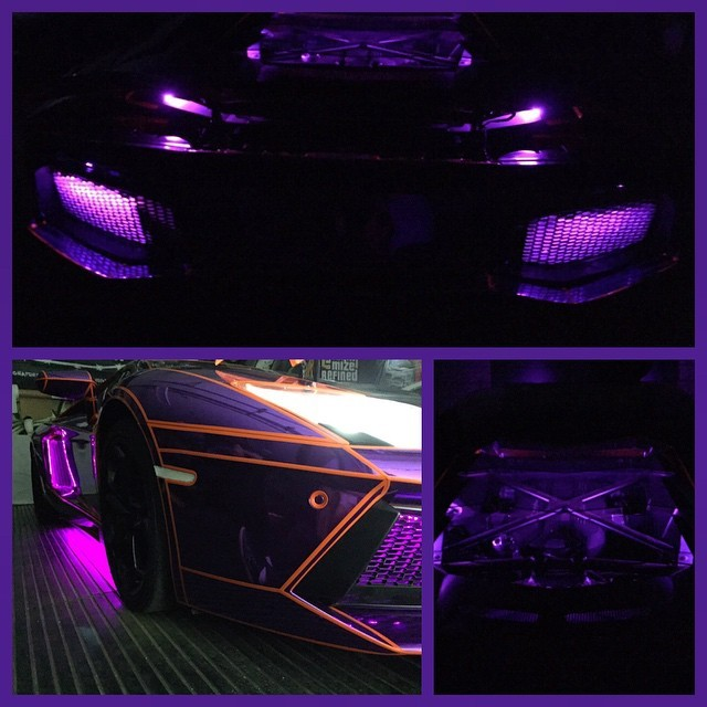 21 Year Old Youtuber S Lamborghini Aventador Gets Tron Legacy Look Photo Gallery Autoevolution