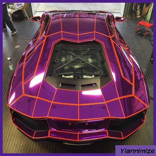 21-Year-Old YouTuber's Lamborghini Aventador Gets TRON ...