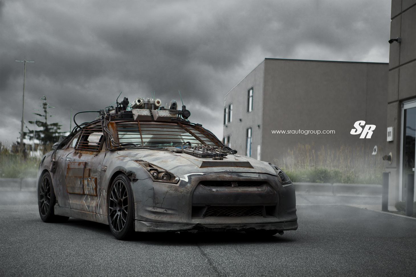 2154 nissan gt-r from elysium gets custom pur wheels
