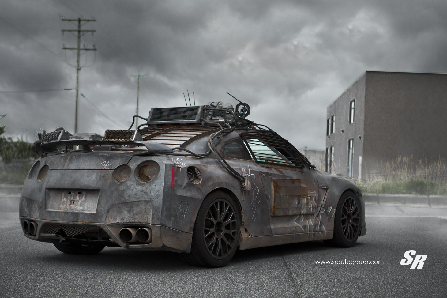2154 Nissan Gt R From Elysium Gets Custom Pur Wheels