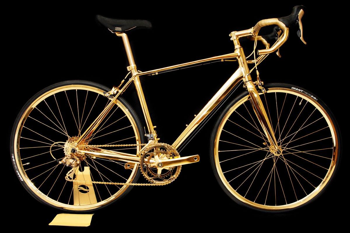 24k Gold Racing Bike Costs Rolls Royce Wraith Money