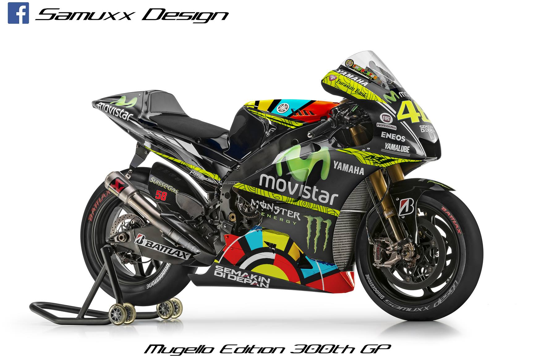 300th Gp Anniversary Bike Rendered For Valentino Rossi Autoevolution