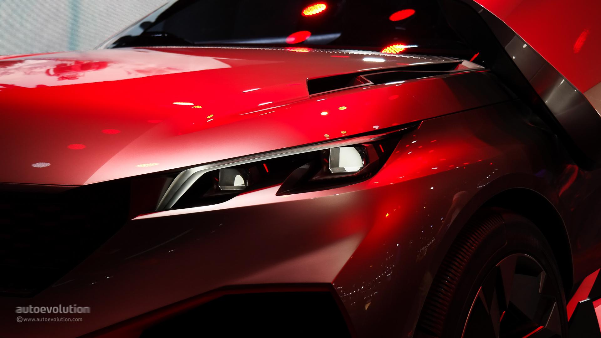 500 HP Peugeot Quartz Concept Previews Future French SUV at Paris 2014 [Live Photos] - autoevolution