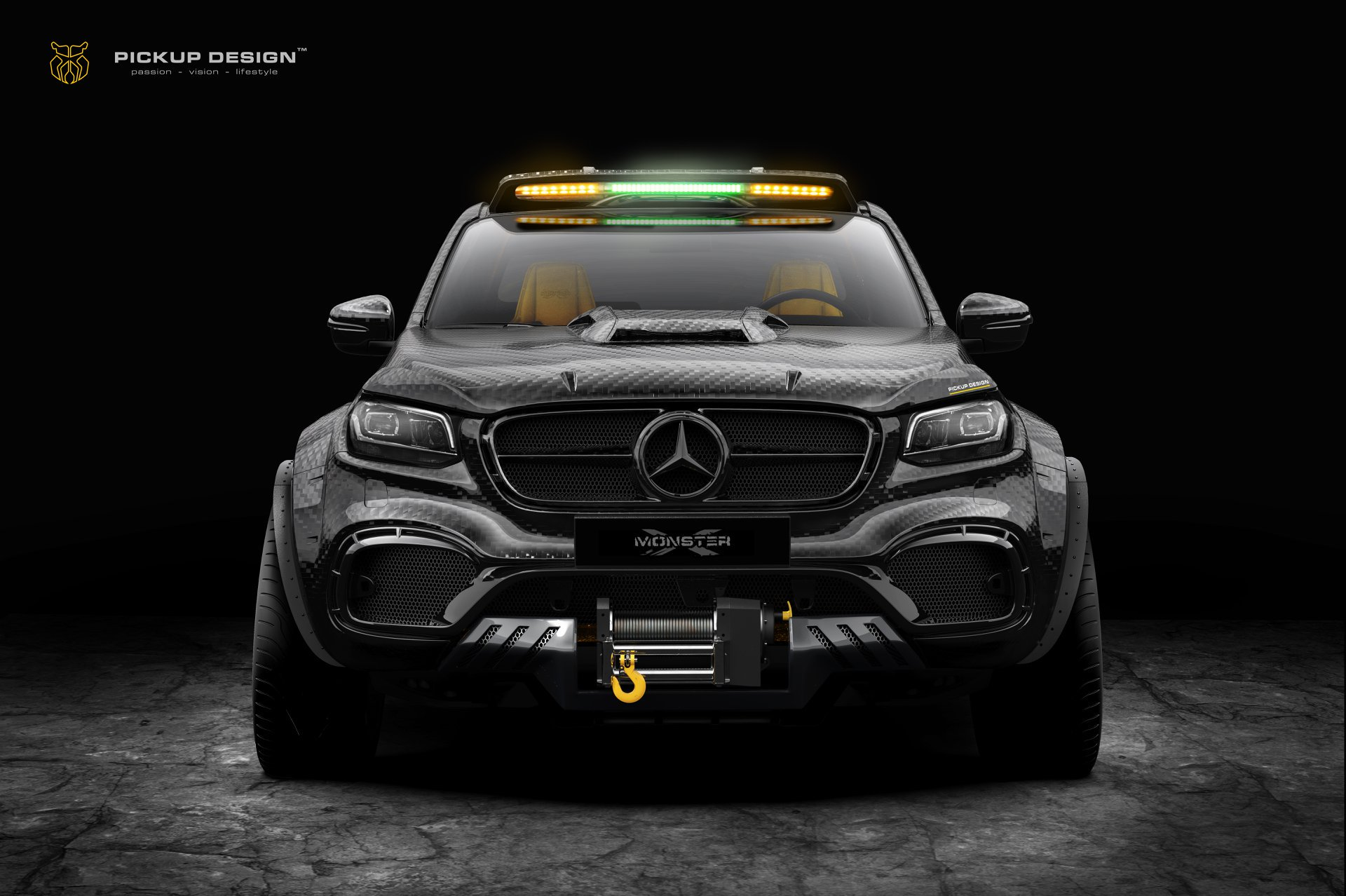 6 wheel mercedes x class is a carbon monster autoevolution. Black Bedroom Furniture Sets. Home Design Ideas