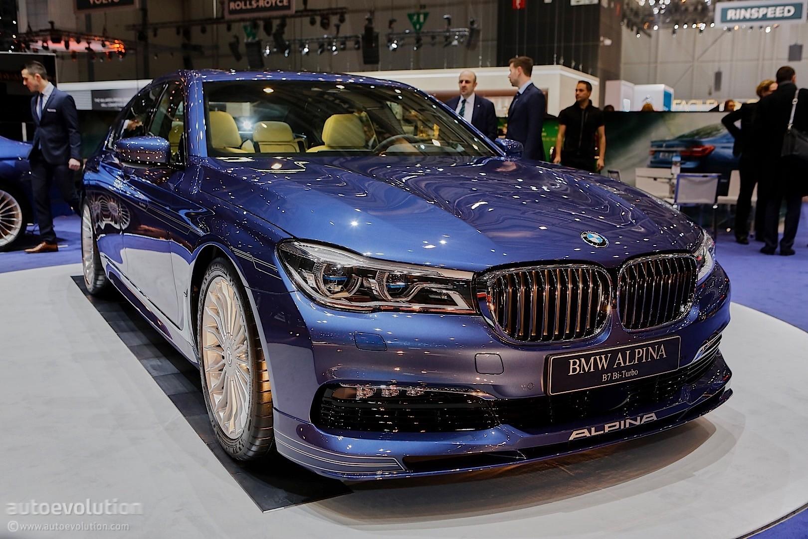 608 HP BMW Alpina B7 BiTurbo Looks Quietly Elegant Under Geneva's Spotlights - autoevolution