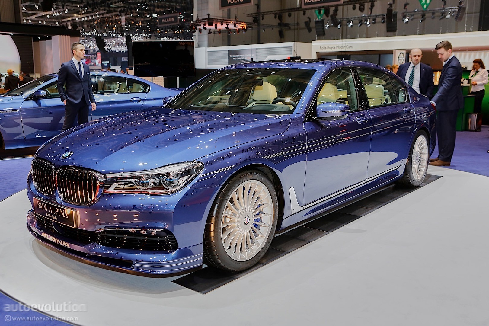 608 hp bmw alpina b7 biturbo looks quietly elegant under geneva 39 s spotlights autoevolution. Black Bedroom Furniture Sets. Home Design Ideas