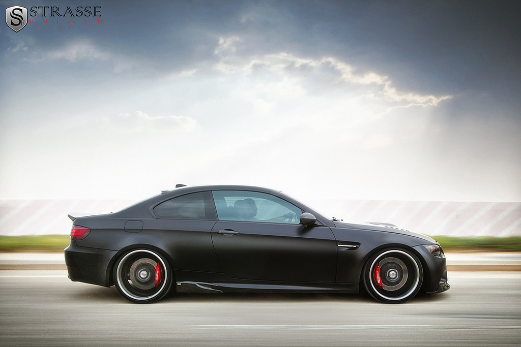 625 hp bmw m3 gets frozen black finish and strasse forged wheels