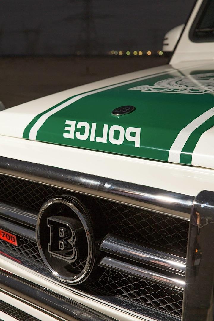 700 HP Brabus Mercedes G63 AMG Becomes Dubai Police Car ...