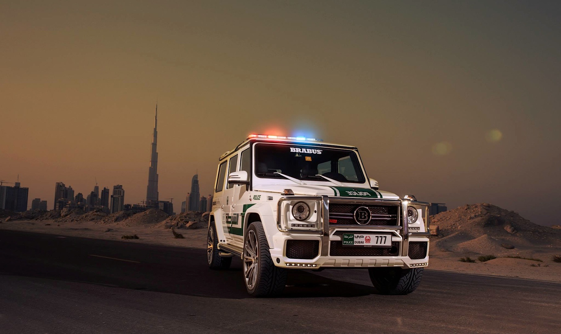 700 Hp Brabus Mercedes G63 Amg Becomes Dubai Police Car