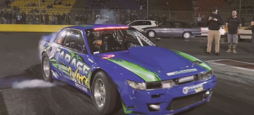 700 Hp Nissan 240sx Drift Car Goes Drag Racing Delivers 9s 1 4 Mile