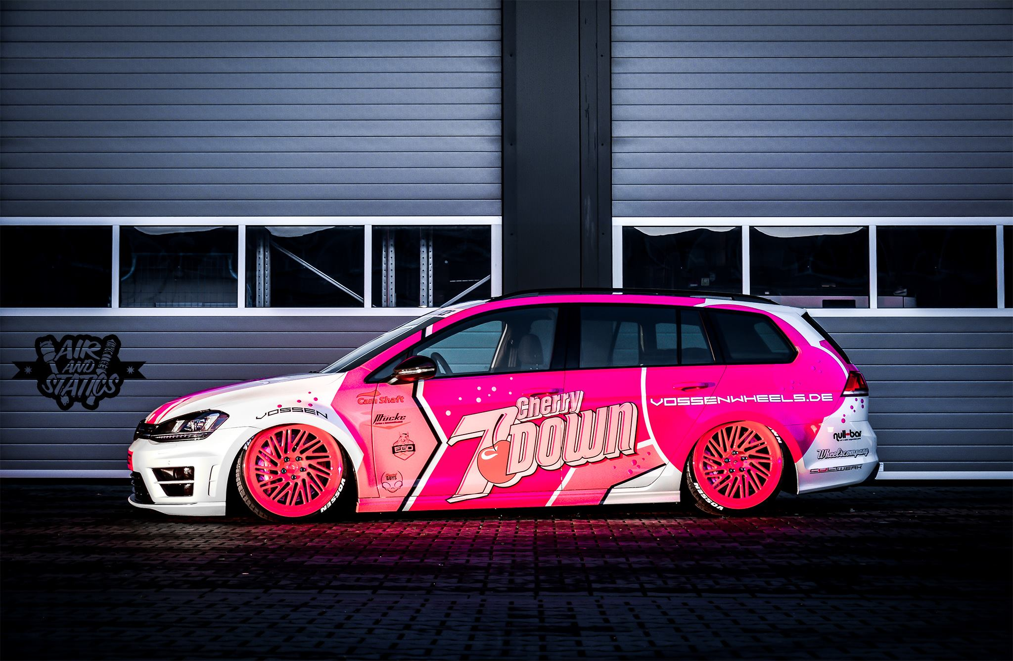 7down 2 0 Is A Lowered Golf R Variant In Pink Autoevolution