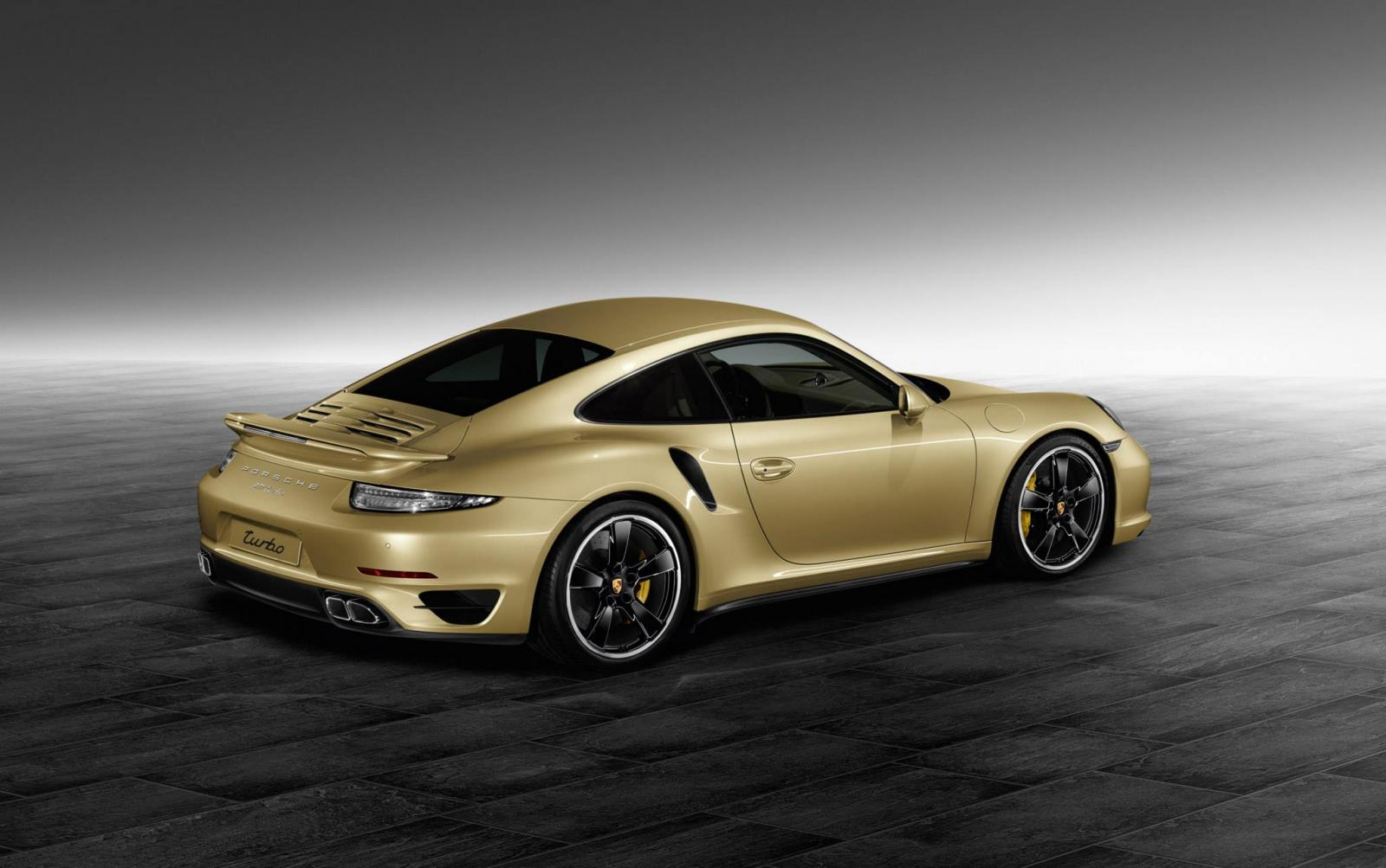 911 turbo by porsche exclusive puts on lime gold metallic coat autoevolution. Black Bedroom Furniture Sets. Home Design Ideas