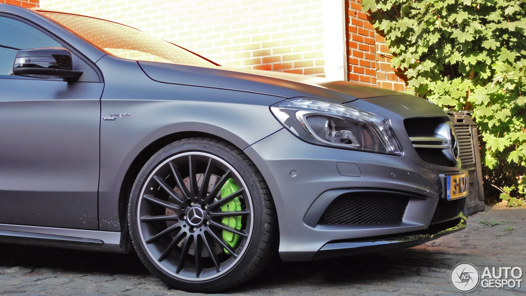Mercedes G Tuning >> A 45 AMG in Matte Grey With Acid Green Calipers - autoevolution