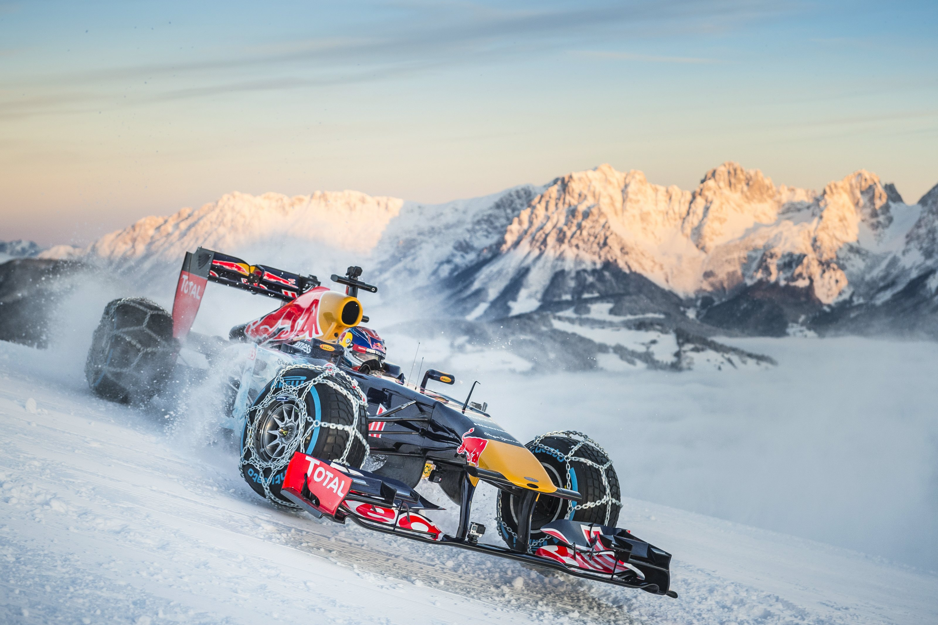 Red Bull Could Be Fined 30 000 For That Awesome F1 Snow Event Autoevolution