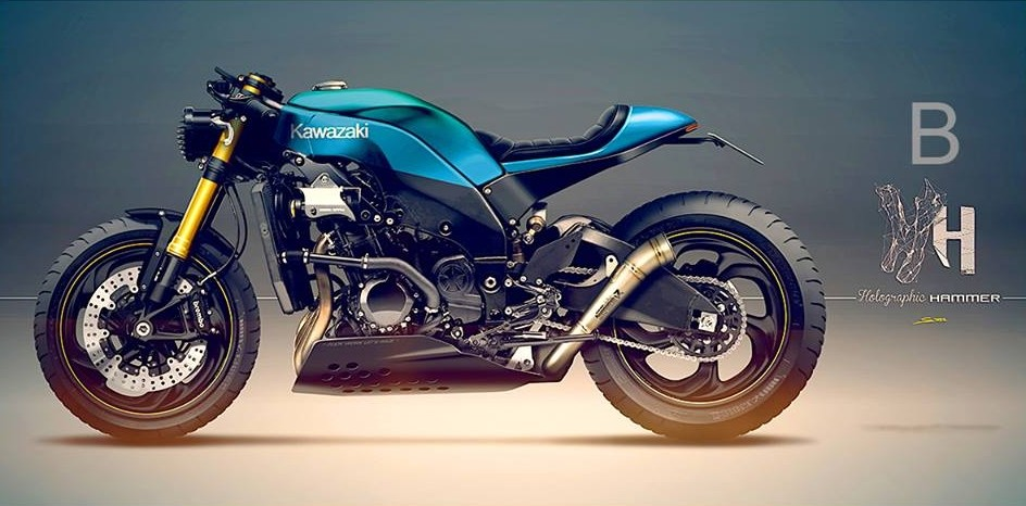 A Kawasaki Ninja Zx 10r Scrambler Yes Sir Please