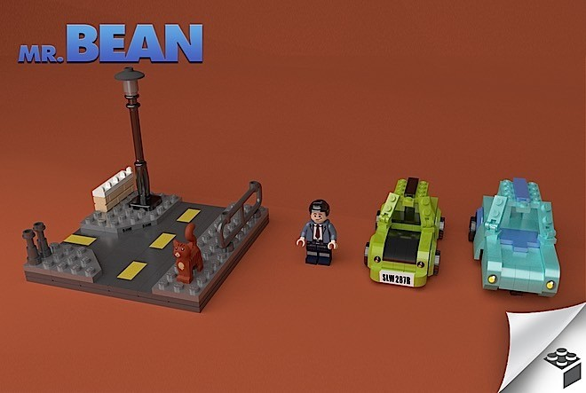 A Man Designed A Mr Bean Lego Play Set Complete With