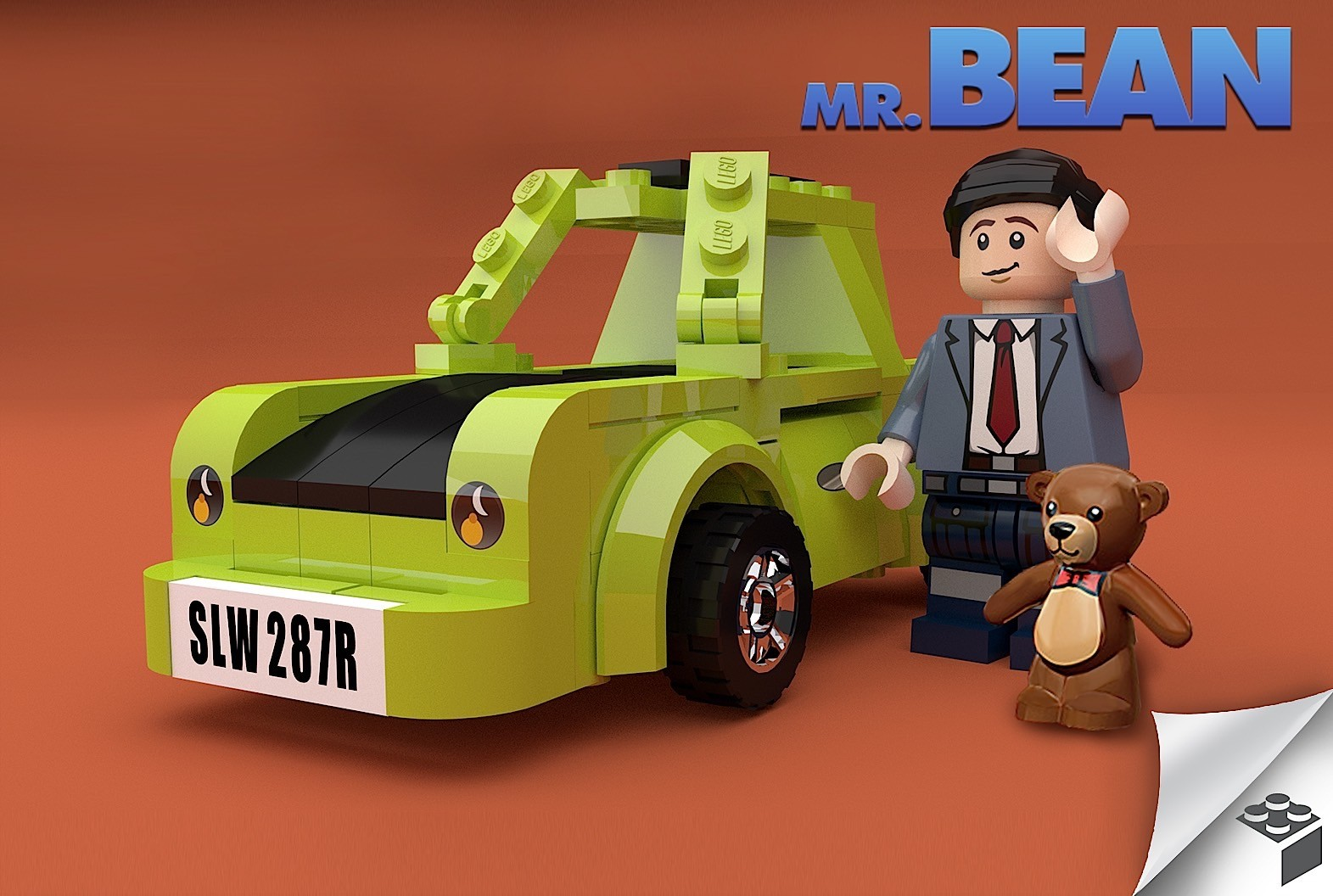 a man designed a mr bean lego play set complete with famous green mini car autoevolution. Black Bedroom Furniture Sets. Home Design Ideas