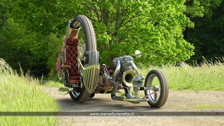 A Steampunk Sidecar Bike Please Autoevolution