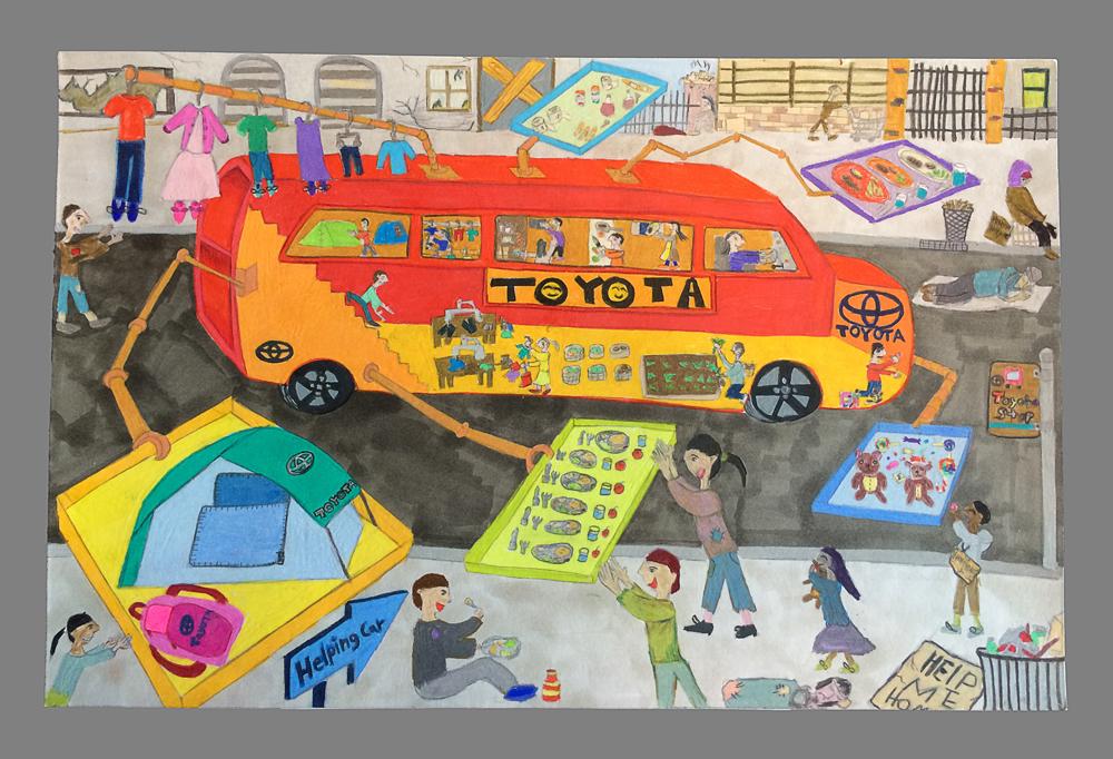 A Trip On Acid Toyota Dream Car Art Contest Wining