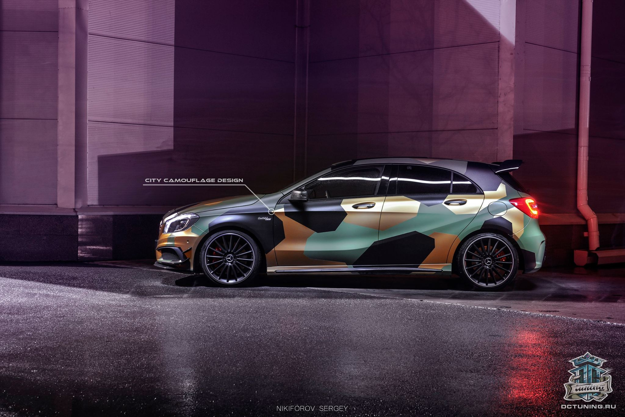 A45 Amg Gets City Camouflage Wrap From Dc Tuning Russia