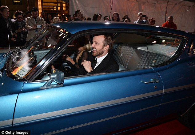 aaron paul drives a 1969 ford gran torino at need for speed premiere in hollywood autoevolution - Ford Gran Torino Need For Speed