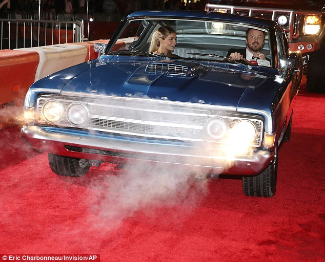 "Aaron Paul Drives a 1969 Ford Gran Torino at ""Need for ..."