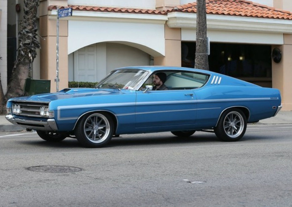 aaron paul driving his 1969 ford torino gt