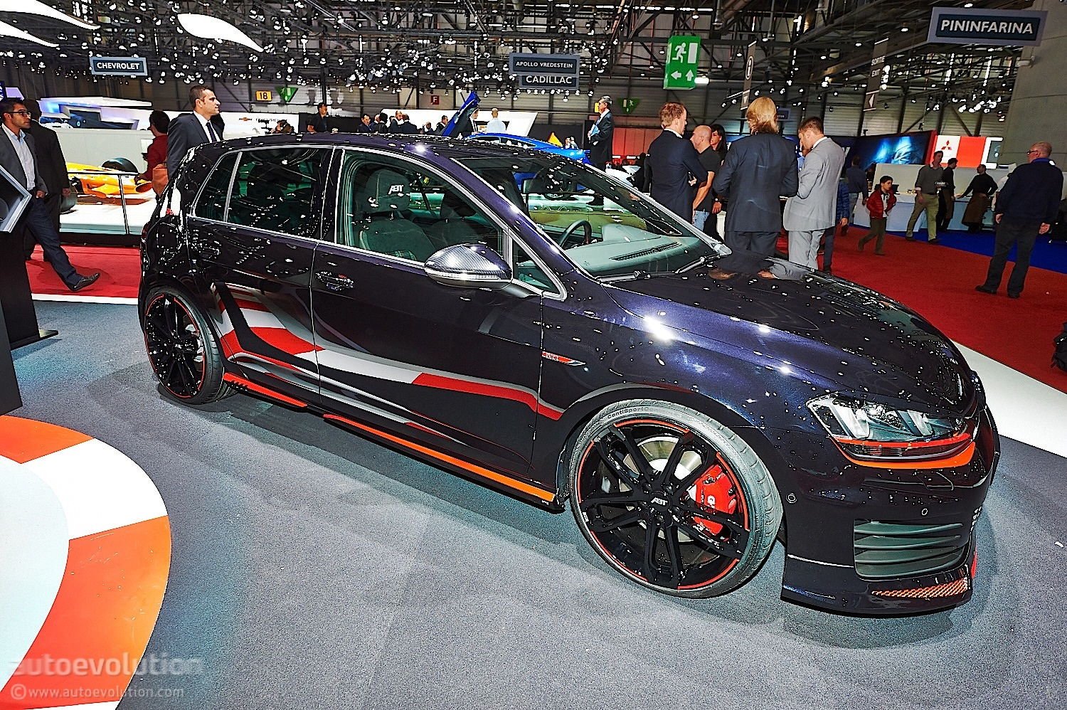 abt volkswagen golf gti dark edition in geneva live photos autoevolution. Black Bedroom Furniture Sets. Home Design Ideas