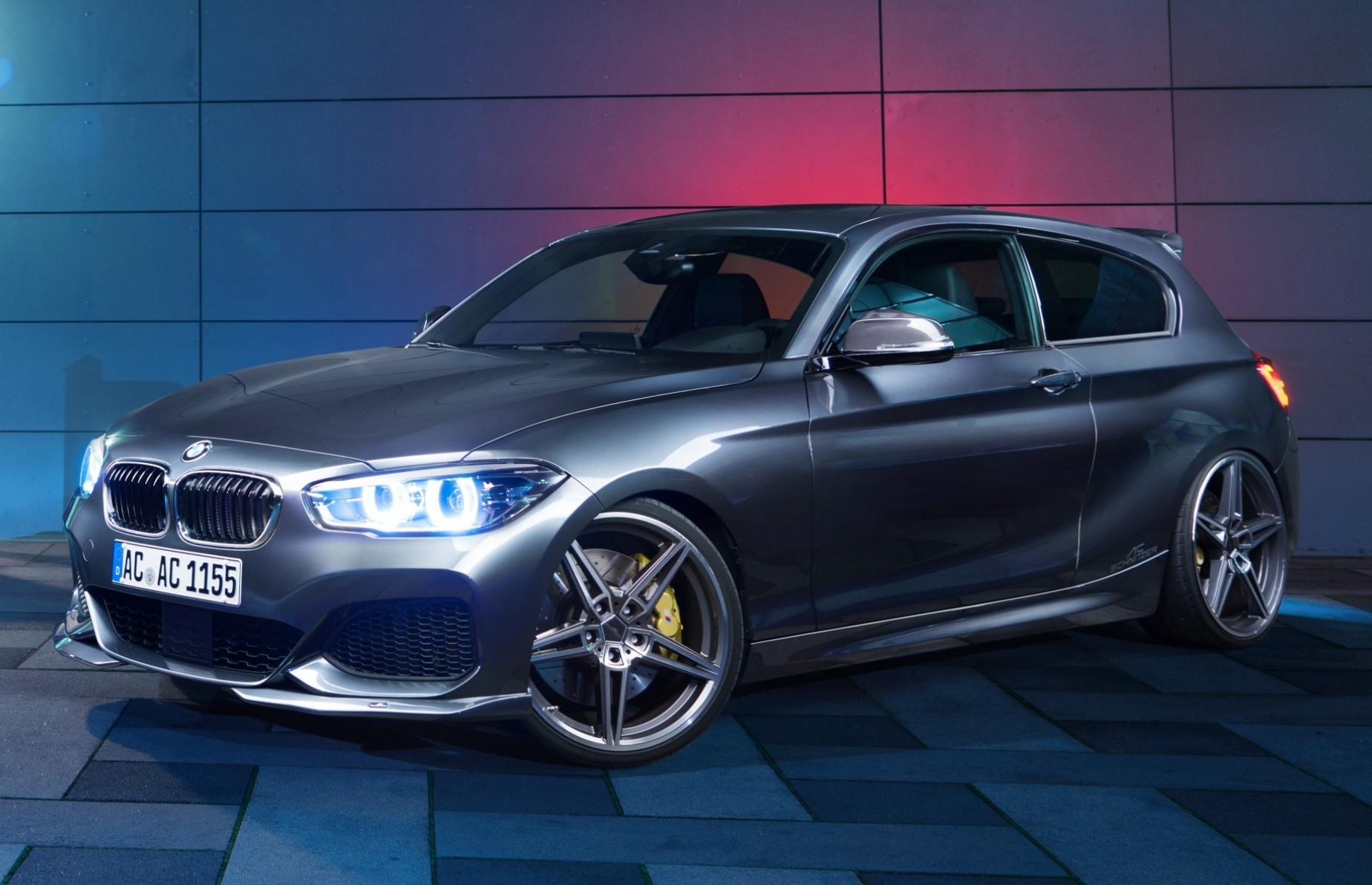 ac schnitzer shows bmw 150d, a 1 series stuffed with tri-turbo