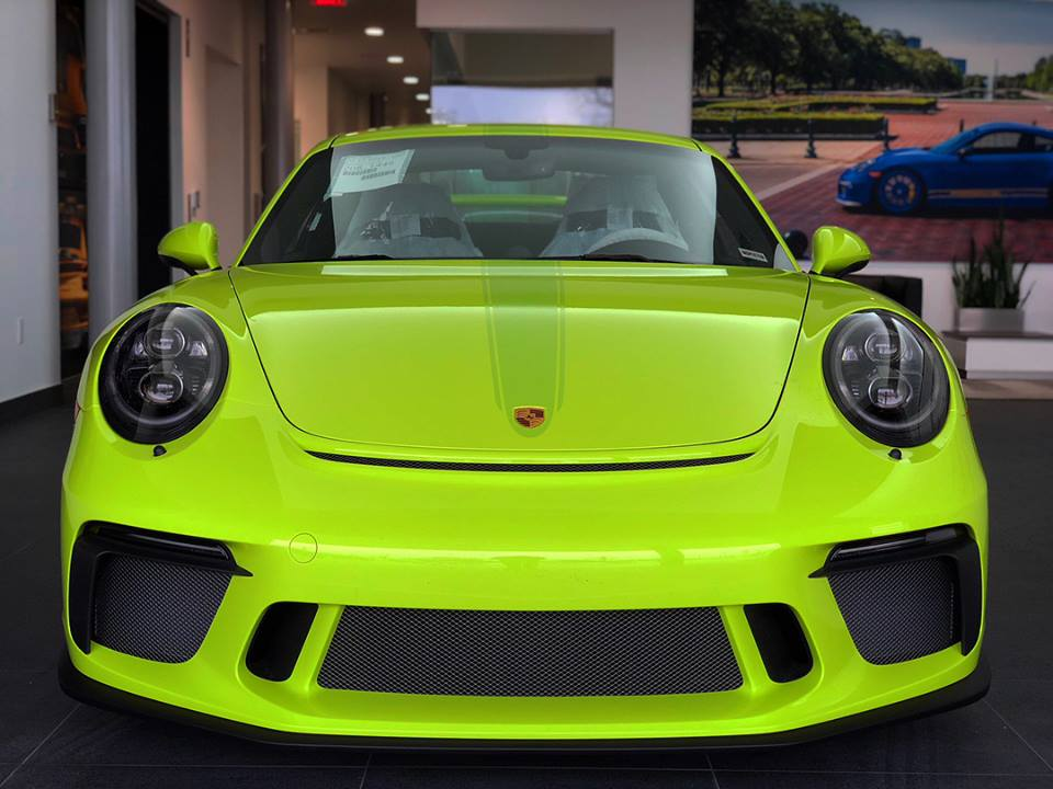 Acid Green 2018 Porsche 911 Gt3 Looks The Part In Texas