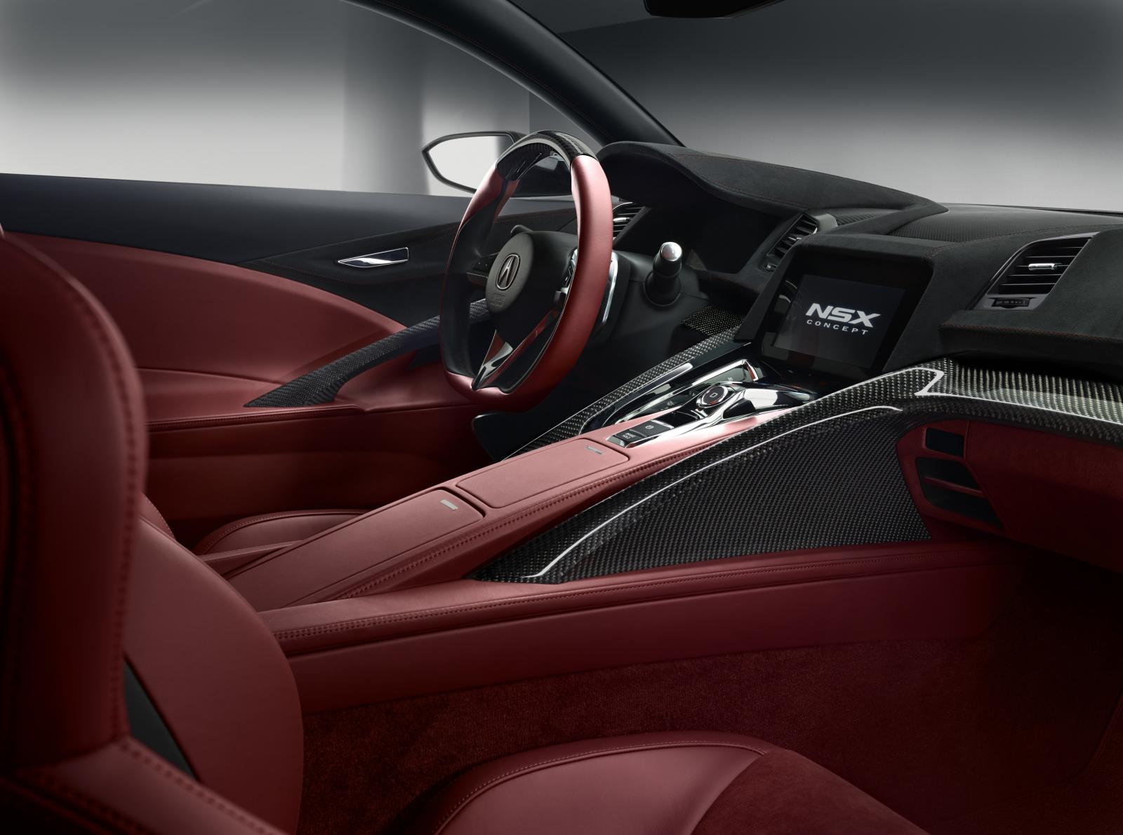 Acura NSX Concept Gets Interior in Detroit - autoevolution