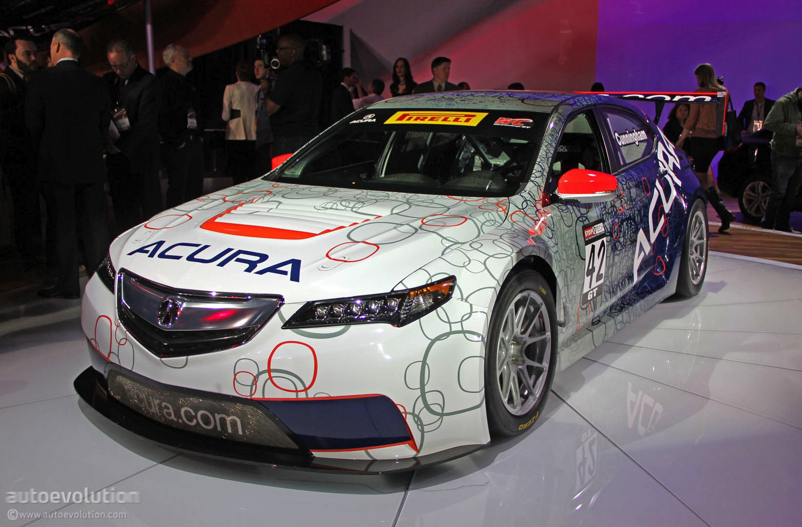 acura tlx gt race car for pirelli world challenge revealed live photos autoevolution. Black Bedroom Furniture Sets. Home Design Ideas