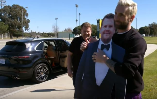 'Carpool Karaoke' With Adam Levine, James Corden And … Johnny Law?