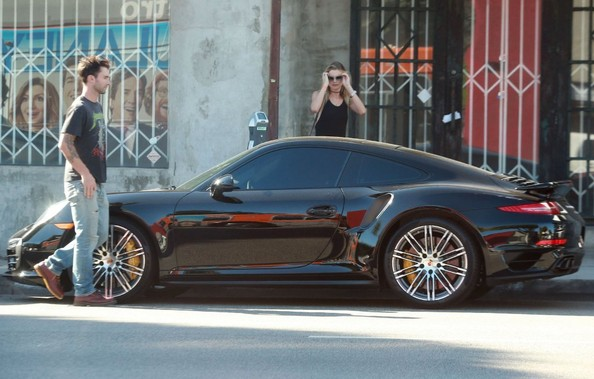 Adam Levine Seen With His New Porsche 911 Turbo