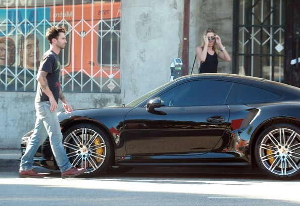 Adam Levine Seen With His New Porsche 911 Turbo