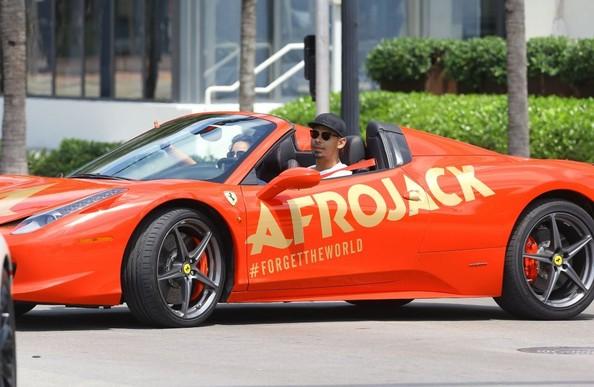 Afrojack Cruises Miami Streets in a Personalized Ferrari ...
