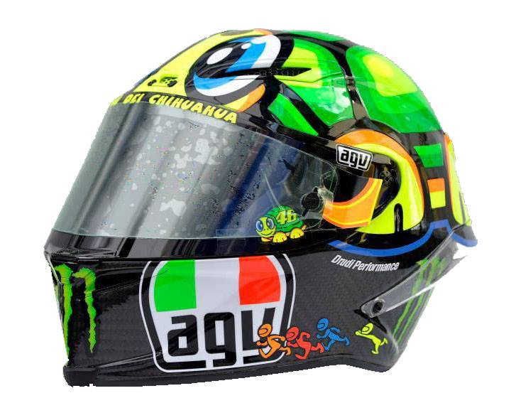 agv shows valentino rossi corsa turtle replica helmet. Black Bedroom Furniture Sets. Home Design Ideas