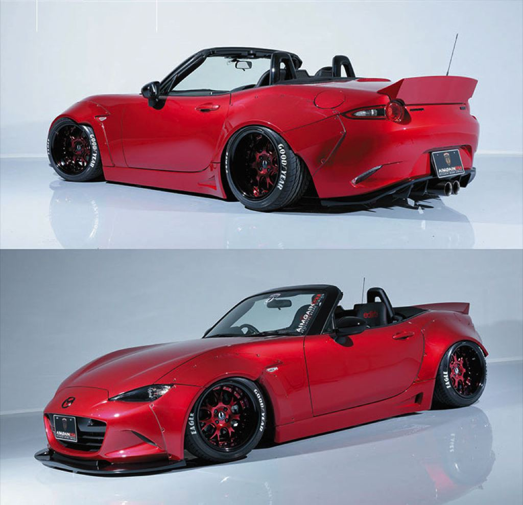 aimgain widebody kit ruins the new mazda mx 5 in a good way autoevolution. Black Bedroom Furniture Sets. Home Design Ideas