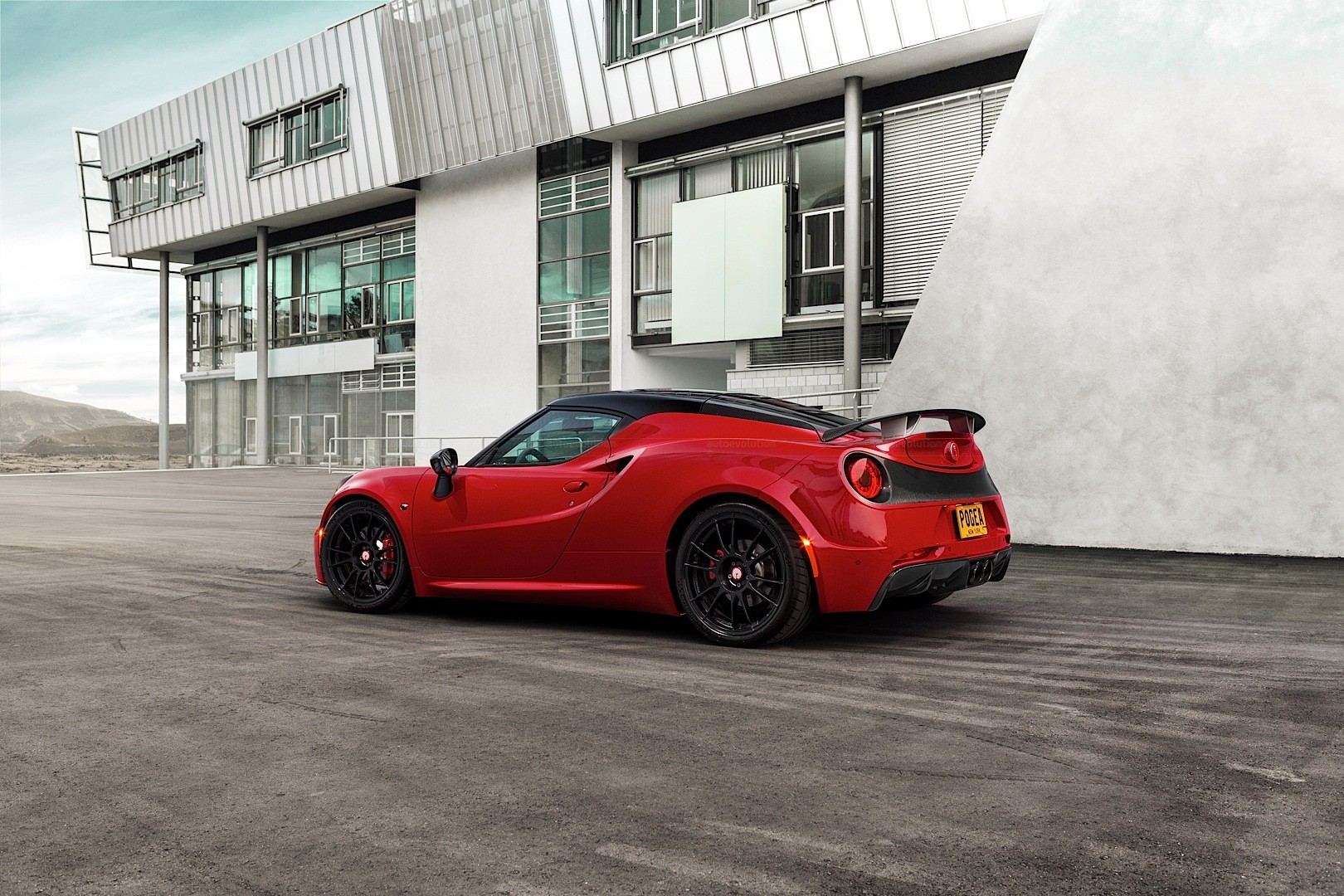 alfa romeo 4c by pogea racing has 313 hp and a carbon wing. Black Bedroom Furniture Sets. Home Design Ideas